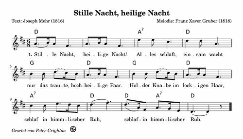 Weihnachtslieder Noten Und Texte Kostenlos.Stille Nacht Heilige Nacht Kostenlose Weihnachtslieder