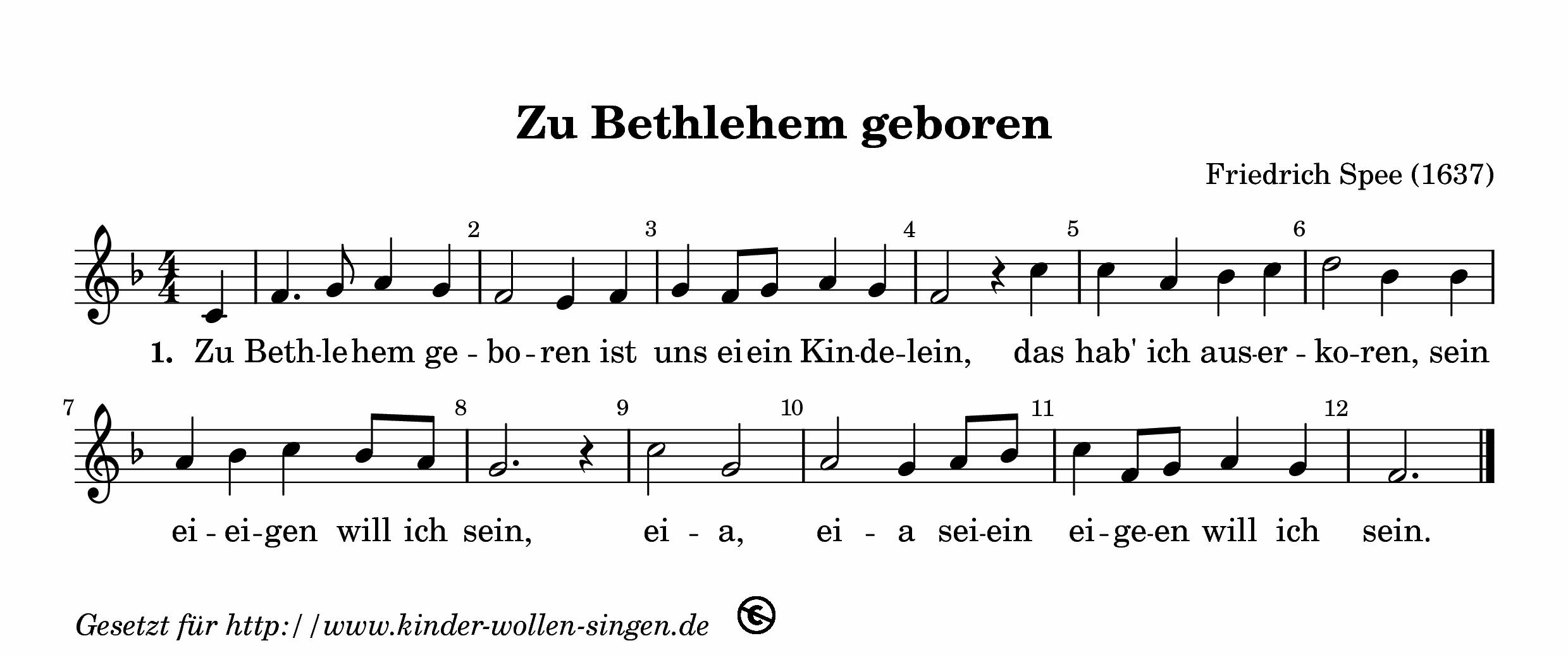 Weihnachtslieder Noten Und Texte Kostenlos.Zu Bethlehem Geboren Kostenlose Weihnachtslieder