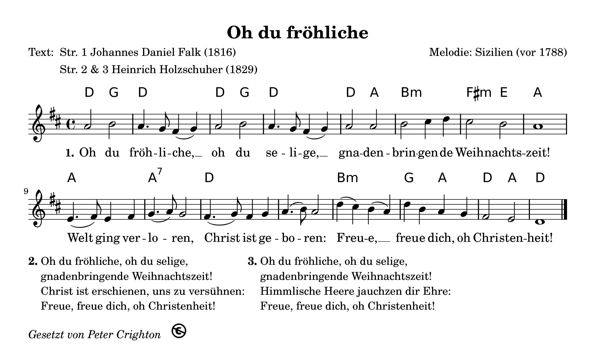 ❄ Oh du fröhliche ❄ Kostenloses Weihnachtslied
