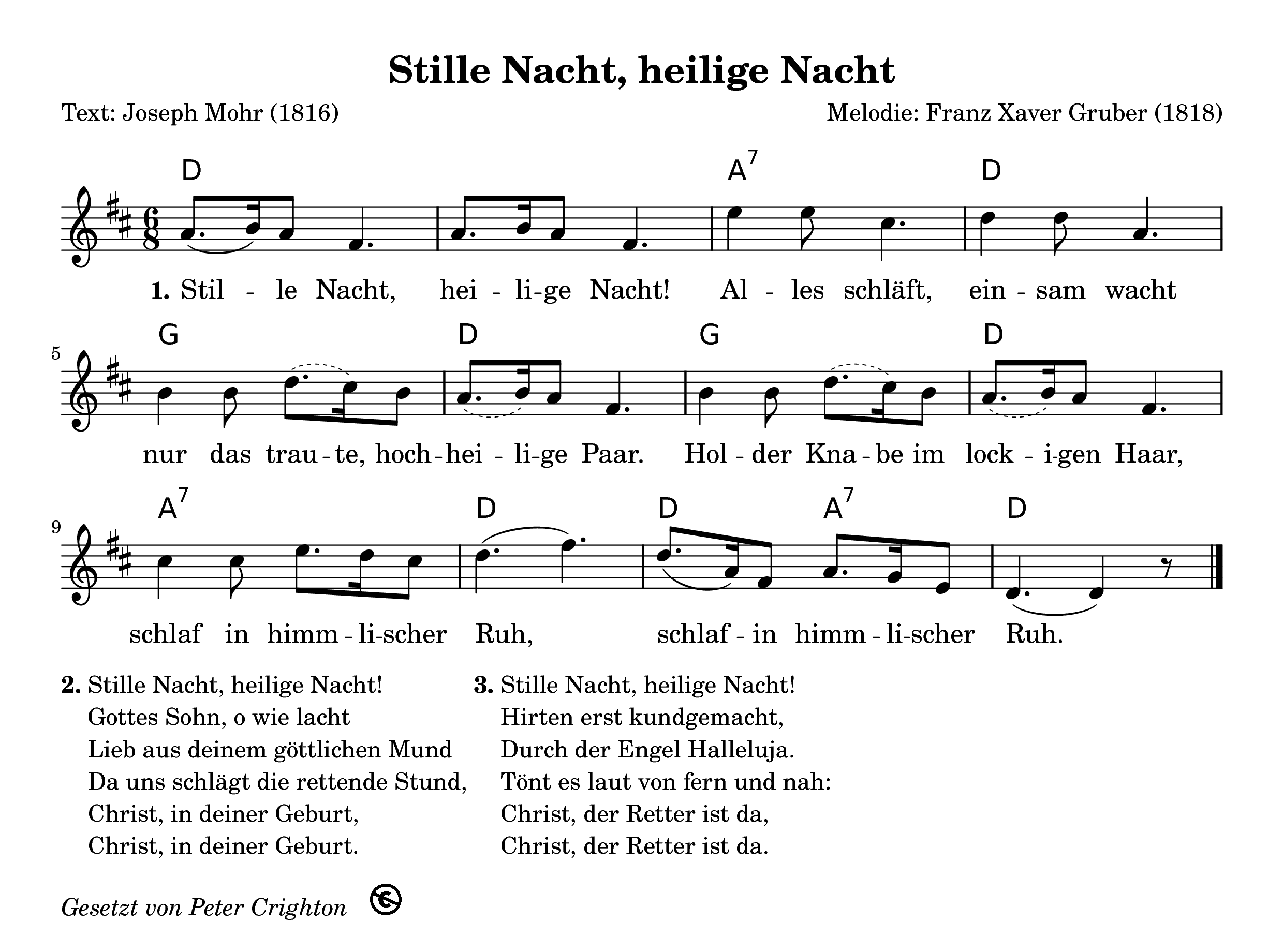 ❄ Stille Nacht, heilige Nacht ❄ Kostenloses Weihnachtslied